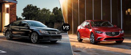 Только сухие цифры: честный тест-драйв Mazda 6 и Volkswagen Passat
