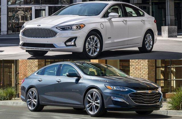 Chevrolet Malibu vs Ford Fusion: смертельный бой популярных седанов для пригона из Штатов